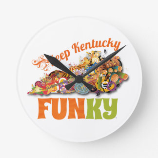 Keep Kentucky FunKY Round Clock