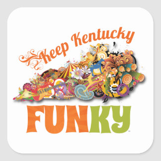 Keep Kentucky FunKY Square Sticker