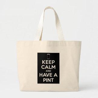 Keep Kind and Have a Pint Jumbo Tote Bag