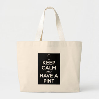 Keep Kind and Have a Pint Large Tote Bag