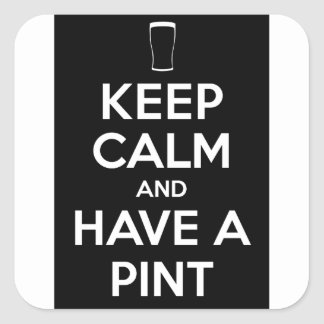 Keep Kind and Have a Pint Square Sticker