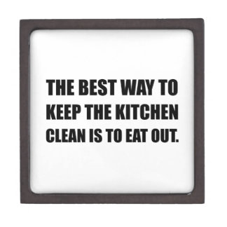 Keep Kitchen Clean Eat Out Keepsake Box