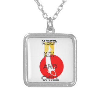 KEEP KOI AND CHILL SILVER PLATED NECKLACE