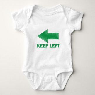 KEEP LEFT BABY BODYSUIT