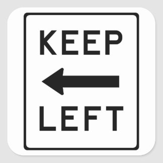 Keep Left: Democratic Political Sticker