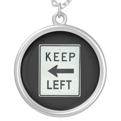 KEEP LEFT NECKLACE