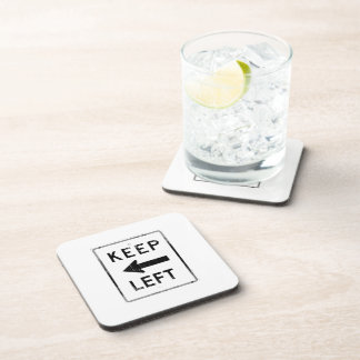 KEEP LEFT SIGN Faded.png Drink Coaster