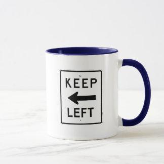 KEEP LEFT SIGN MUG