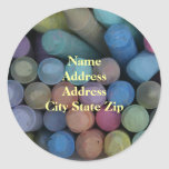 Keep Life Colorful Address Label Classic Round Sticker