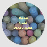 Keep Life Colorful Sticker