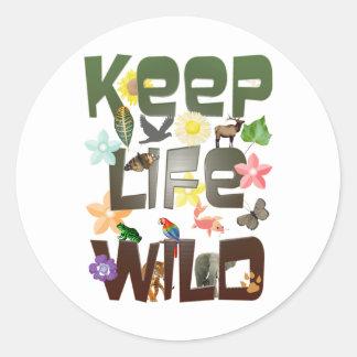 Keep Life Wild Classic Round Sticker