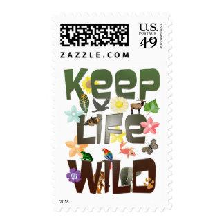 Keep Life Wild Postage