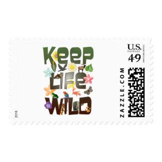 Keep Life Wild Postage Stamp