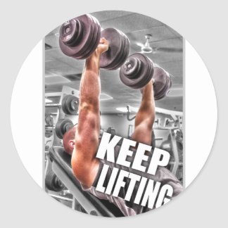 Keep Lifting Classic Round Sticker