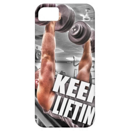 Keep Lifting iPhone 5 Cover