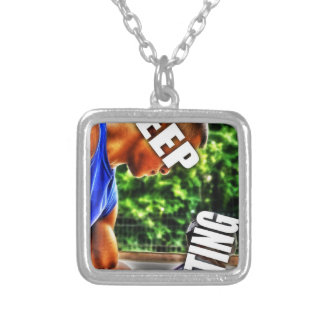 Keep Lifting Silver Plated Necklace