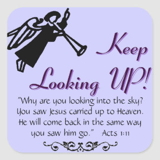 keep looking up square sticker