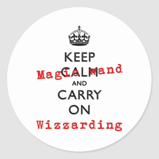 KEEP MAGIC WAND CLASSIC ROUND STICKER