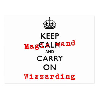 KEEP MAGIC WAND POSTCARD
