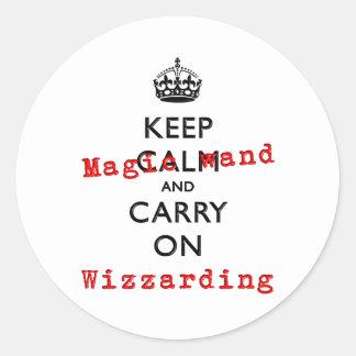 KEEP MAGIC WAND ROUND STICKER