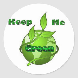 keep-me-green classic round sticker