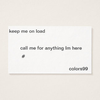 Keep me on Load Business Card