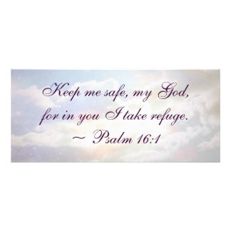 Keep Me Safe Psalm Quote Rack Card