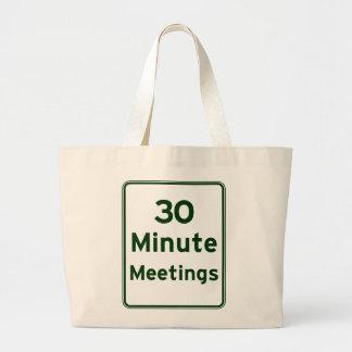 Keep meetings as short as possible bag