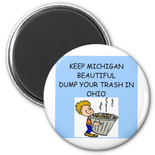 keep michigan beautiful 2 inch round magnet