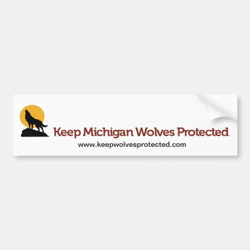 Keep Michigan Wolves Protected Bumper Sticker