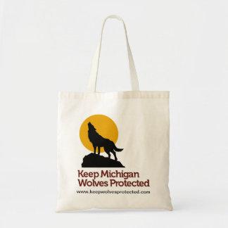 Keep Michigan Wolves Protected Tote Bag