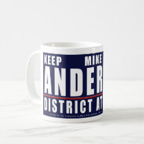 Keep Mike Anderton District Attorney logo mug