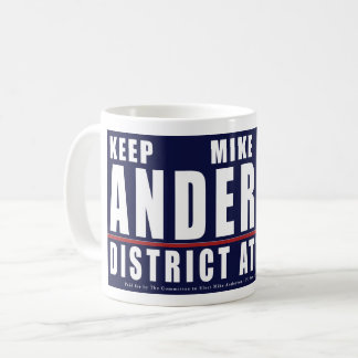 Keep Mike Anderton District Attorney logo mug
