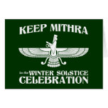 Keep Mithra in the Winter Solstice Celebration Greeting Card