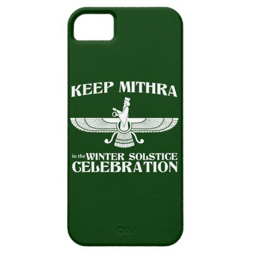 Keep Mithra in the Winter Solstice Celebration iPhone 5 Cases