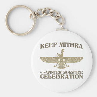 Keep Mithra in the Winter Solstice Celebration Keychain