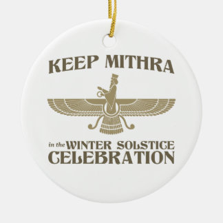 Keep Mithra in the Winter Solstice Celebration Christmas Ornaments