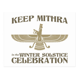 Keep Mithra in the Winter Solstice Celebration Post Cards