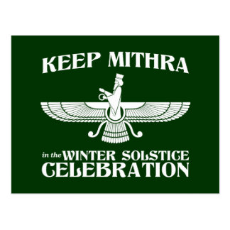 Keep Mithra in the Winter Solstice Celebration Post Card