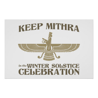 Keep Mithra in the Winter Solstice Celebration Poster