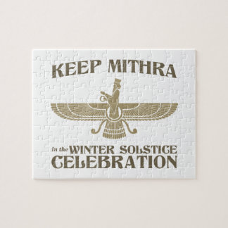 Keep Mithra in the Winter Solstice Celebration Jigsaw Puzzles