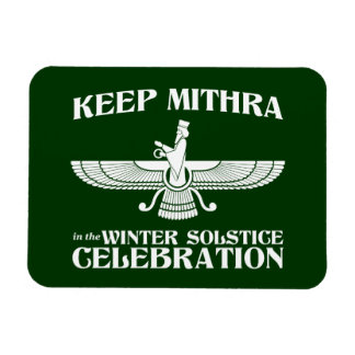 Keep Mithra in the Winter Solstice Celebration Rectangular Photo Magnet