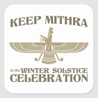Keep Mithra in the Winter Solstice Celebration Square Sticker