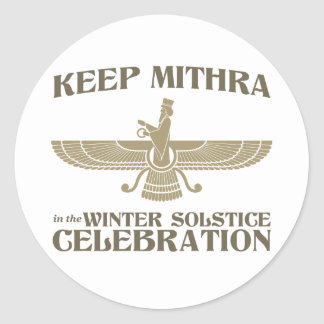 Keep Mithra in the Winter Solstice Celebration Sticker