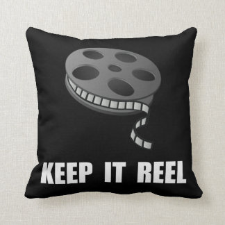 Keep Movie Reel Throw Pillow