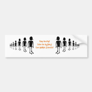 Keep moving bumper sticker
