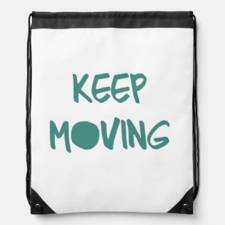 Keep Moving Drawstring Bag