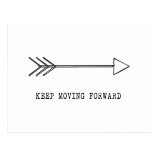 Keep Moving Forward Postcard