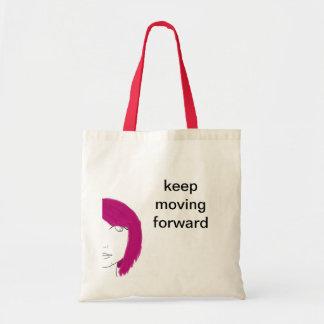 keep moving forward tote bag