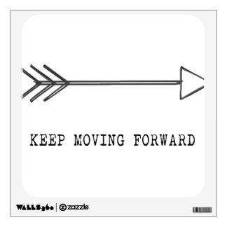 Keep Moving Forward Wall Sticker